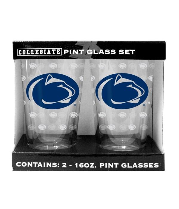 GLASS PINT SET - PENN STATE