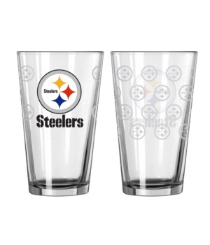 GLASS PINT SET - PITT STEELERS