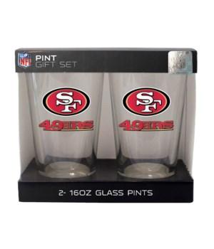 GLASS PINT SET - SF 49ERS