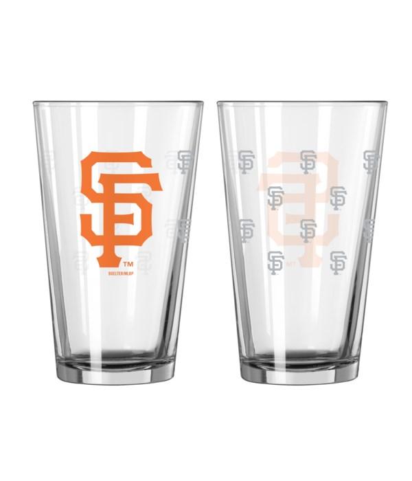 GLASS PINT SET - SF GIANTS