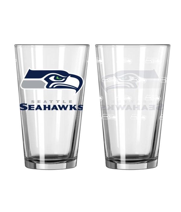 GLASS PINT SET - SEA SEAHAWKS