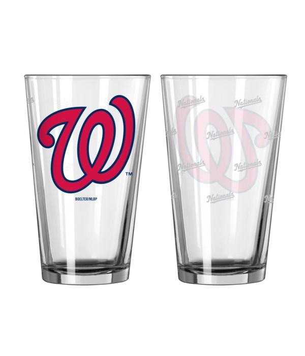 GLASS PINT SET - WASH NATIONALS