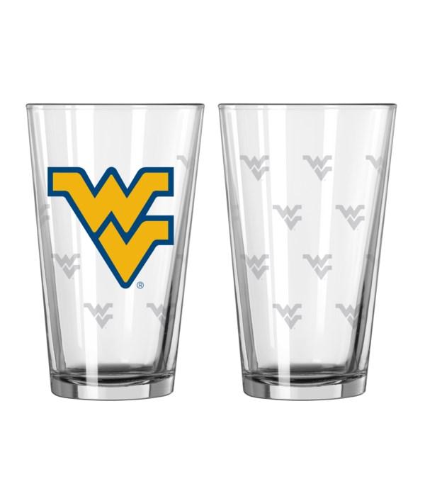 GLASS PINT SET - WEST VIRGINIA