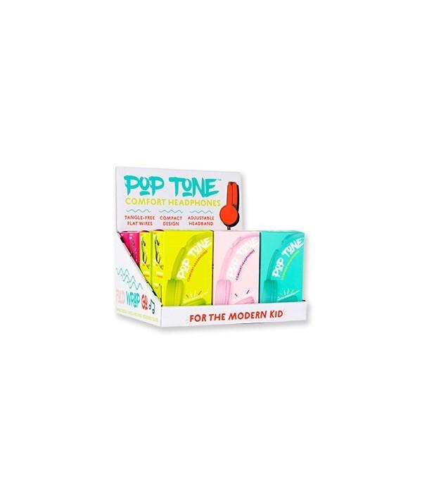 Pop Tone Comfort Headphones 12PC Unit