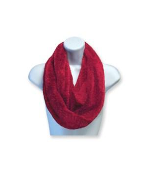 Posh Plush Infinity Scarf 3pc - Red