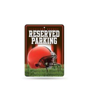 PARKING SIGN - CLEV BROWNS