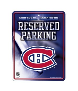 PARKING SIGN - MONTREAL CANADIANS