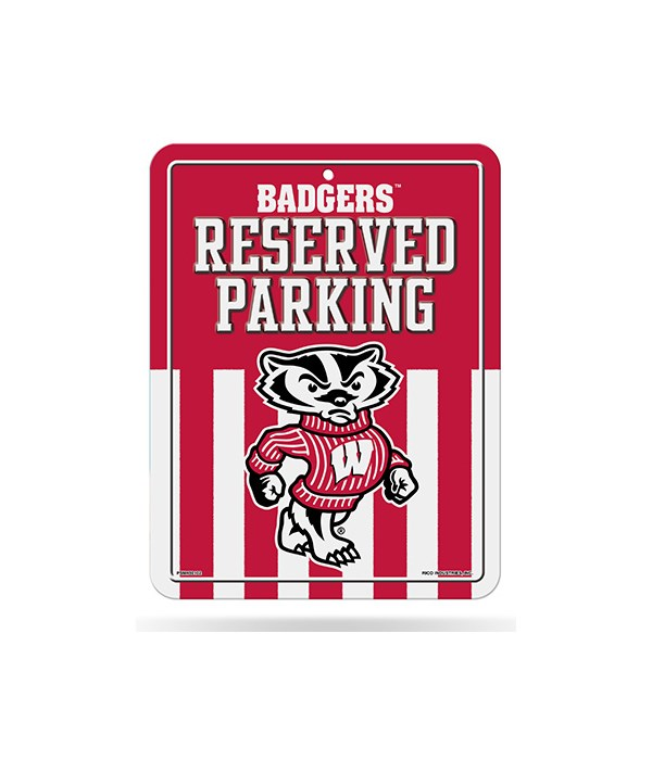 PARKING SIGN - WIS BADGERS