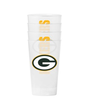 4PK PLASTIC TUMBLER - GREEN BAY PACKERS
