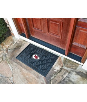 RUBBER DOOR MAT - KC CHIEFS