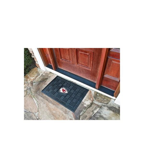RUBBER DOOR MAT - KC CHIEFS