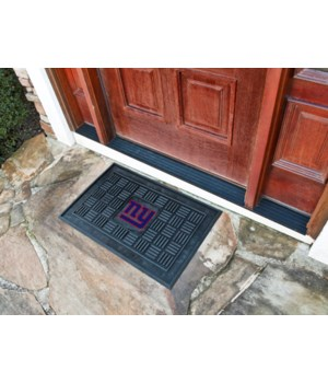 RUBBER DOOR MAT - NY GIANTS
