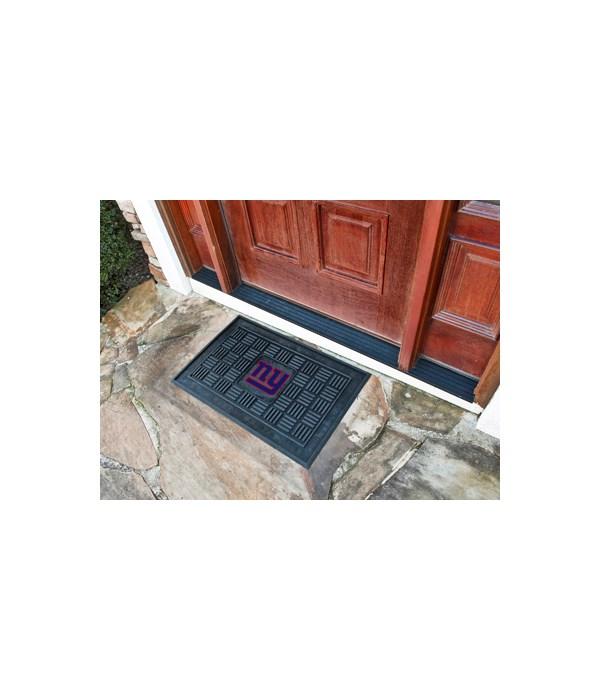 RUBBER DOOR MAT - NY GIANTS