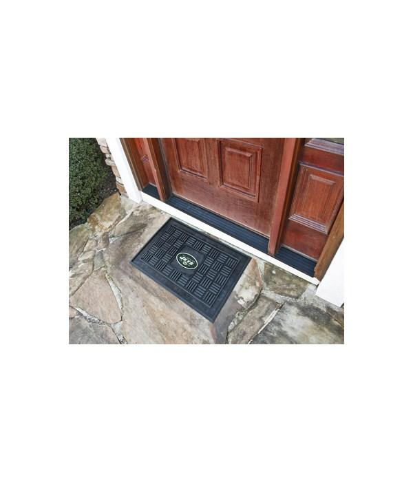 RUBBER DOOR MAT - NY JETS