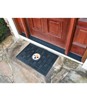 RUBBER DOOR MAT - PITT STEELERS