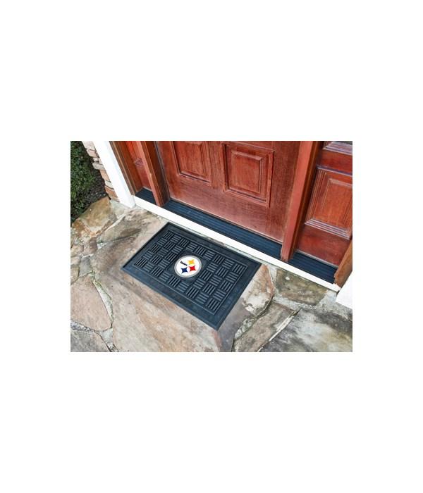 RUBBER DOOR MAT - PITT STEELERS