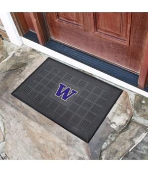 RUBBER DOOR MAT - WASH HUSKIES