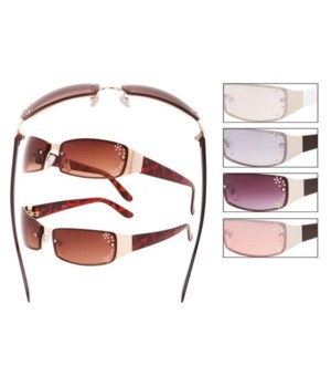 Rhinestone Wrap Sunglasses - Women's