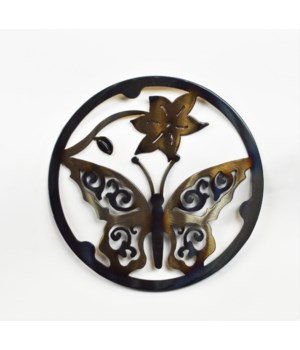 "BUTTERFLY 10"" Round Trivet"