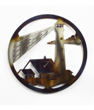 "LIGHTHOUSE WITH BEAM 10"" Round Trivet"