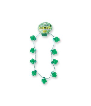 St. Pats Jumbo Light Up Necklace 24PC