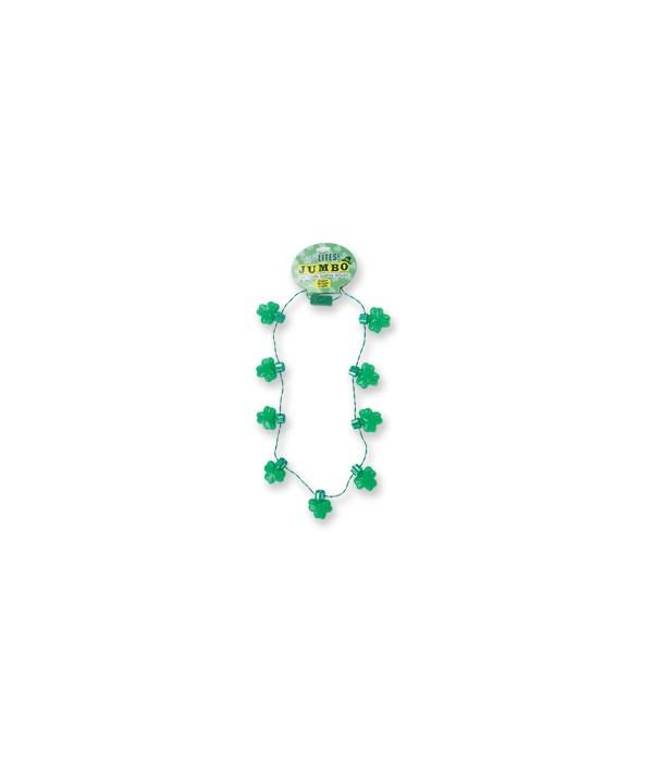 St. Pats Jumbo Light Up Necklace 24PC