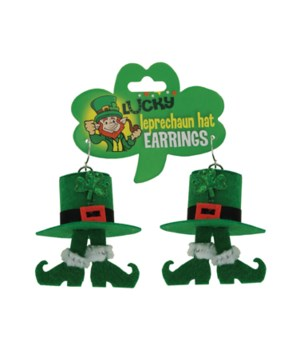 Leprechaun Hat Earrings 24PC