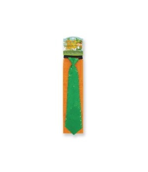 St. Pats Sequin Green Tie 24PC