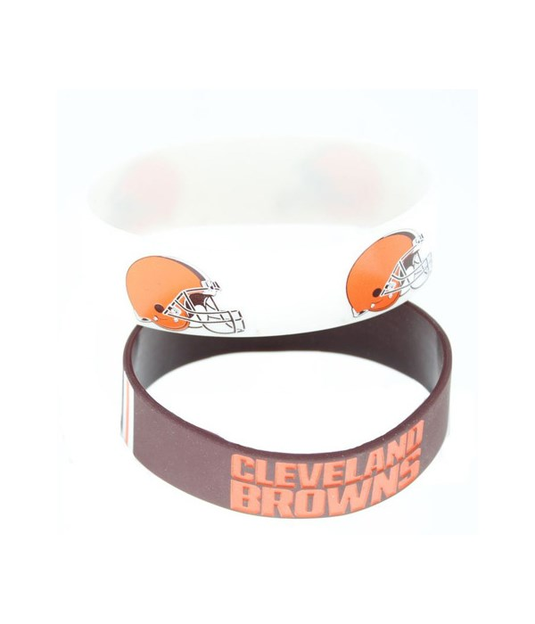 2PK SILICONE BRACELET - CLEV BROWNS