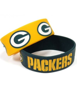 2PK SILICONE BRACELET - GREEN BAY PACKER