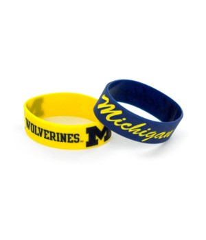 2PK SILICONE BRACELET - MICH WOLVERINES
