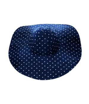 Navy Polka Dot/Navy Reversible Hat 3PC