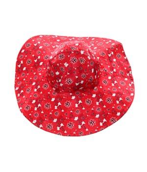 Red Poppy/Black Reversible Hat 3PC