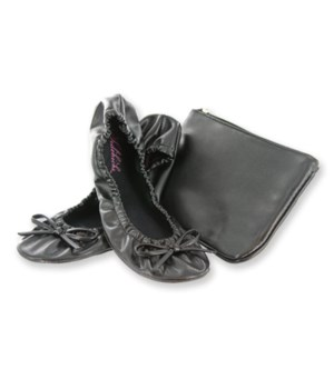 Foldable Flat w/ Pouch Black Small 2PC