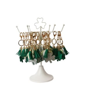 Bling Shamrock Keychain 24PC Display
