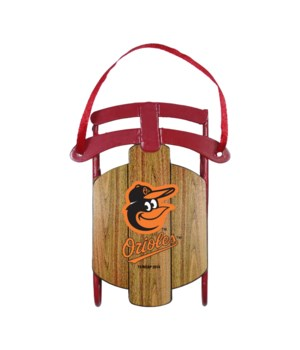 SLED ORNAMENT - BALT ORIOLES