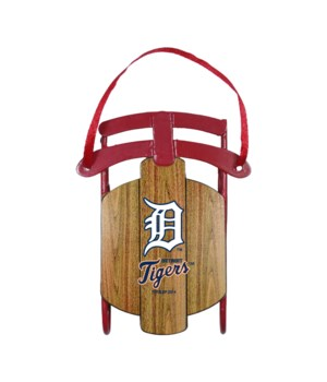 SLED ORNAMENT - DET TIGERS