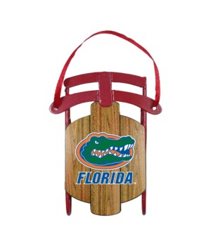 SLED ORNAMENT - FLORIDA GATORS