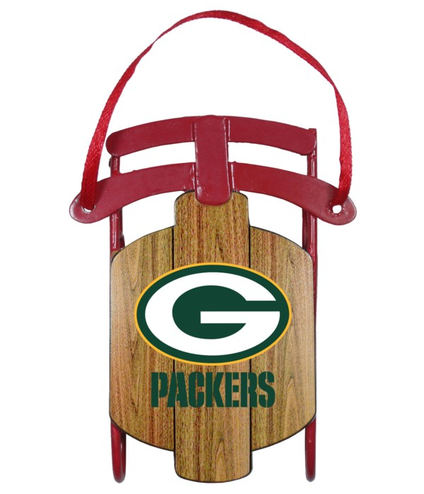 SLED ORNAMENT - GREEN BAY PACKERS