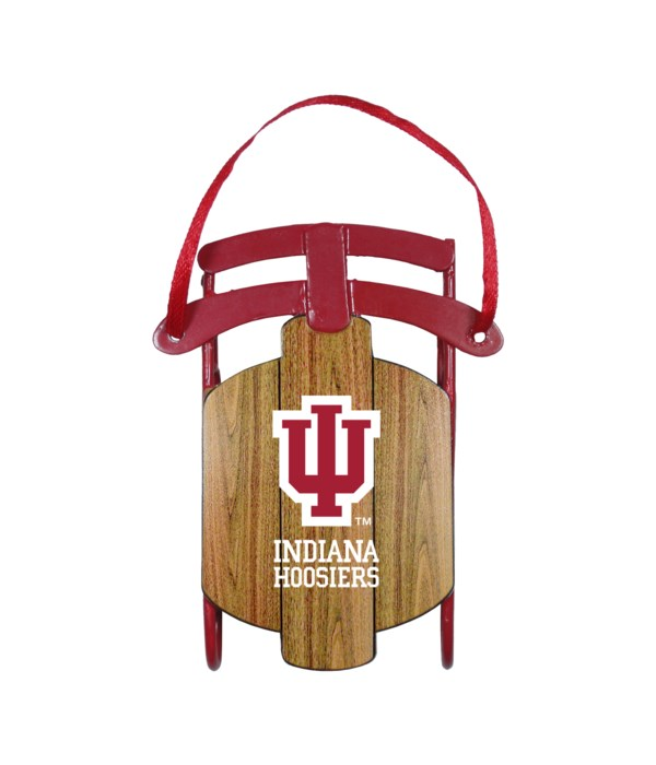 SLED ORNAMENT - IND HOOSIERS