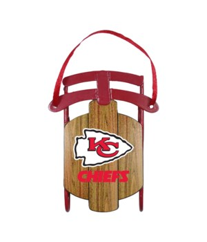 SLED ORNAMENT - KC CHIEFS