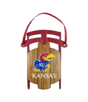 Kansas Jayhawks sled ornament