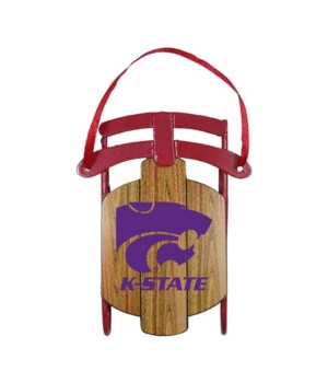 Kansas State Wildcats sled ornament