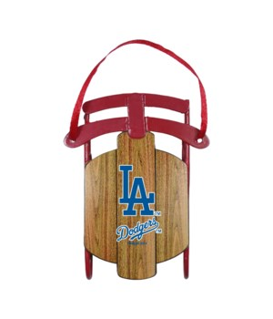 SLED ORNAMENT - LA DODGERS