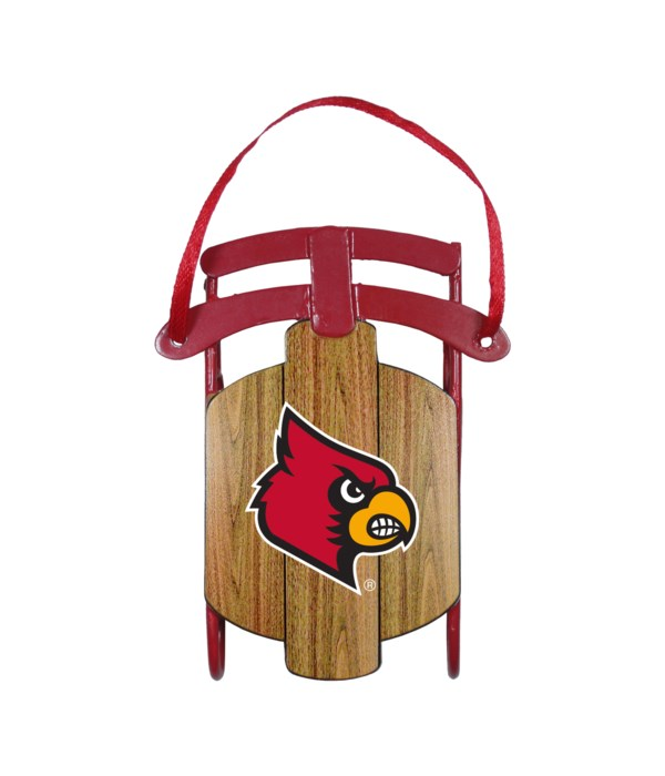 SLED ORNAMENT - LOUISVILLE CARDINALS