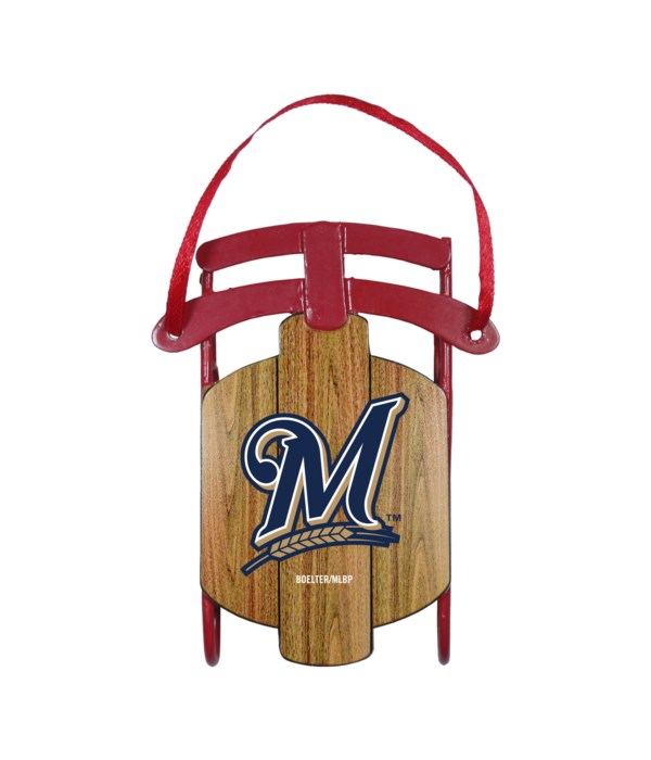 SLED ORNAMENT - MILWAUKEE BREWERS