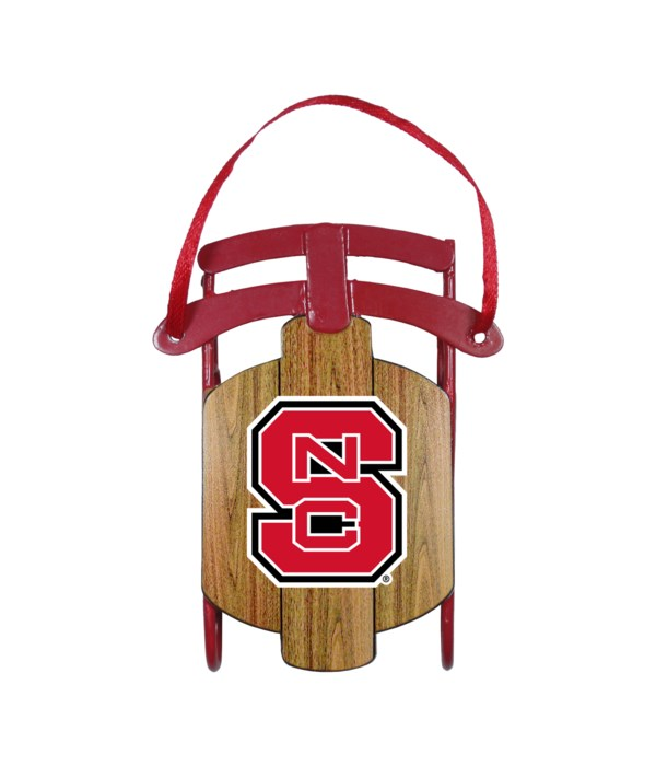 SLED ORNAMENT - NC STATE WOLFPACK