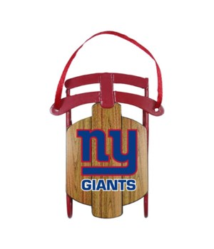 SLED ORNAMENT - NY GIANTS