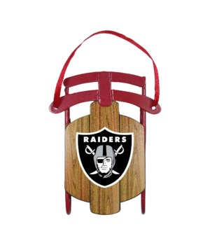 SLED ORNAMENT - OAK RAIDERS