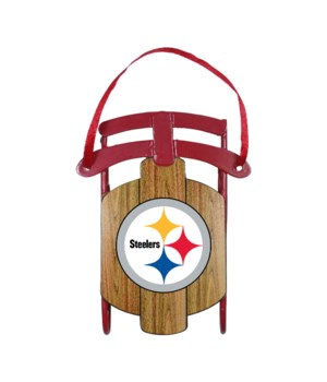 SLED ORNAMENT - PITT STEELERS